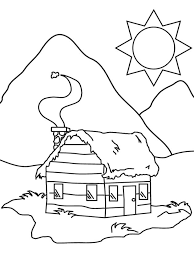 The area or scenery surrounding a house is always interesting as it gives one the sense of the geographical location where the house is located. 20 Free Printable House Coloring Pages Everfreecoloring Com