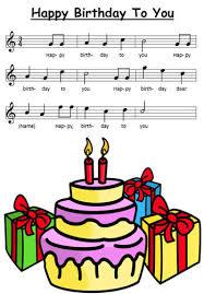 happy birthday to you sheet