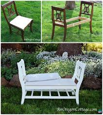 french style bench from old chairs ways to repurpose old chairs diy ideas