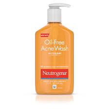 neutrogena oil free salicylic acid acne fighting face wash 9 1 fl oz walmart