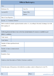 Official Bankruptcy Form : Sample Forms
