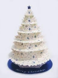 Shimmering White Christmas Tree Greeting Card