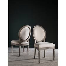 safavieh old world dining holloway light beige oval side chairs set of 2 beige furniture