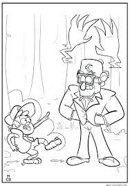 Gravity Falls Coloring Pages Bill Gravity Falls Coloring Pages