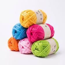 hand knitting blanket basket rug thick wool yarn diy crochet mat clothes eyeful