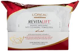 amazon l oreal paris revitalift radiant smoothing wet cleansing 30 towelettes beauty