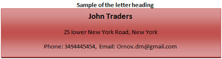 Different Parts Of A Good Business Letter The Business
