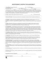 Collection of most popular forms in a given sphere. Free One 1 Page Independent Contractor Agreement Form Pdf Word Eforms
