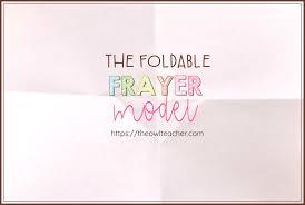 Frayer Boy Foldable Frayer Model The Owl Teacher