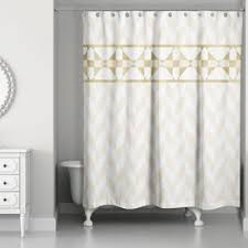 gold and white striped shower curtain. decorative stripe shower curtain in gold/creme gold and white striped s