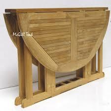 mardel teak erfly round folding outdoor table