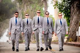 Groom Light Grey Suit Groom And Groomsmen Light Gray Suit And Navy Tie Groomsmen