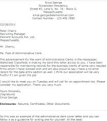 Cover Letter For Admin Clerk Cover Letter For Admin Clerk Sample Administrative Contoh Cover