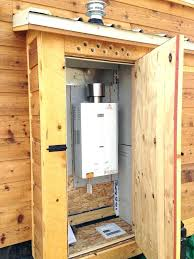 water heater cabinet outdoor enclosure plans shed images outdoor water heater enclosure electric