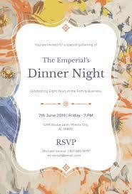 Invitation Samples For Dinner Refrence Free Formal Dinner Invitation ...