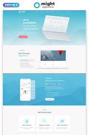 Free Web Application Design Templates Might Delicate Web Application Html Landing Page Template