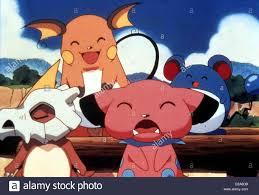 Pokemon - Der Film Pokemon: The First Movie Cubone, Raichu, Snubble and  Marrill *** Local Caption *** 1999 Warner Brothers Stock Photo - Alamy