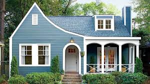 soft blue exterior paint colors for small houses with curvy wooden in prepare 6