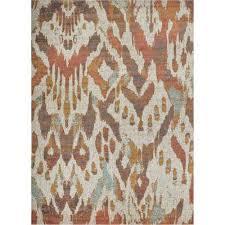 modern southwestern ikat thin area rug