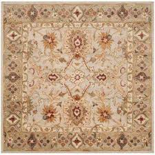 antiquity grey beige sage 6 ft x 6 ft square area rug