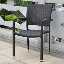 black wicker dining chairs. Barcelona Resin Wicker Square Back Dining Chair - Black Quick View Chairs D
