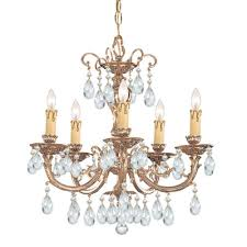 olde world 5 light candle chandelier crystal swarovski strass