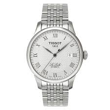 tissot watches quality swiss watches ernest jones watches tissot le locle men s stainless steel bracelet watch product number 3692752