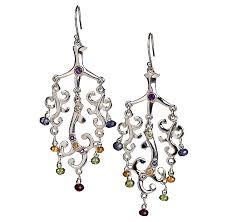 tree of life chandelier earrings with amethyst
