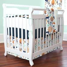 woodland themed nursery bedding fox den indigo multi crib