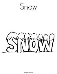 Small Picture Snow Coloring Page Twisty Noodle