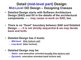 Designing Class Based Components Software Mid Level Design Static Class Model Chapter 11