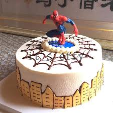 2019 Cartoon Spiderman Cake Hat Boy Party Cupcake Toppers Picks Kids
