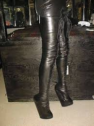 custom made wedge heeled kneehigh boots