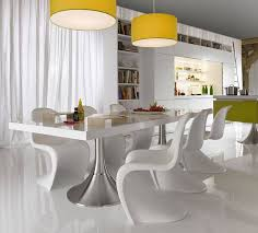 white contemporary dining tables