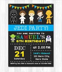 Party Invitation Generator 20 Star Wars Birthday Invitation Template Word Psd