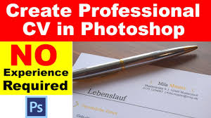 how to easily create professional cv in photoshop under minutes how to easily create professional cv in photoshop under 5 minutes