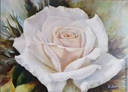 flower paintings handmade livemaster handmade white rose oil painting white