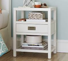 vegas white glass mirrored bedside tables. Lonny Nightstand Pottery Barn Inside White Night Table Ideas 12 Vegas Glass Mirrored Bedside Tables A