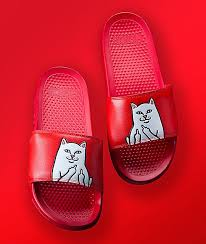 Ripndip Lord Nermal Red Slide Sandals Coooltastic In