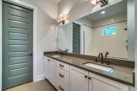 master bath with quartz countertops in lagos azul contemporary bathroom