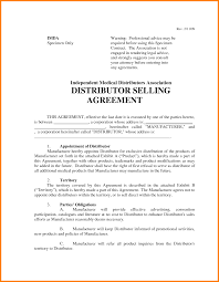 5 Exclusive Distributor Agreement Template Gospel Connoisseur