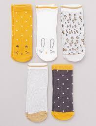 Pack of <b>5 pairs of</b> fun socks Girls 0 to 36 months - GREY - Kiabi - 6 ...