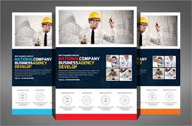 One Page Flyer Template Free Construction Pany Flyer 24 Free Psd Ai