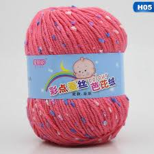 XADZ Hand-knitted color dot <b>baby line</b> milk <b>cotton baby child</b> wool ...