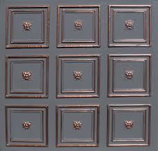 Rococo Decorative Wall Tile 60x60 Rococo Accent Copper Black Pvc 60mil Ceiling Tiles Antique 22