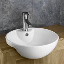 semi recessed sink washbasin alsace surface mounted basin