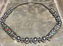 Navajo bead designs Loom Work Image Turquoise Jewelry Ship Free Gorgeous Vintage Navajo Beads And Sterling Silver Pearls Rug Etsy