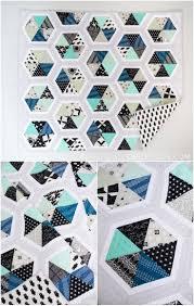 Best 25+ Hexagon quilt ideas on Pinterest   Hexagon quilt pattern ... & Cotton and Steel Triangle Hexies Quilt. Hexagon QuiltingHexagonsQuilting  PatternsPatchwork ... Adamdwight.com