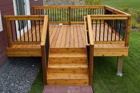 deck railing ideas. Delighful Railing Simple Relatively Inexpensive Cedar Deck With Aluminum Hybrid Throughout  Railing Ideas Modern Glass On