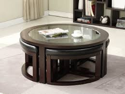 ashley round glass coffee table with 4 stools buetheorg